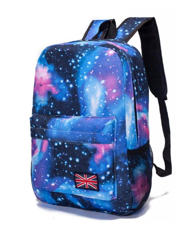 Рюкзак молодежный городской Галактика Космос Синий