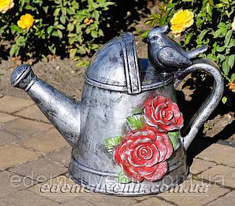 Садовая фигура Лейка с розами
