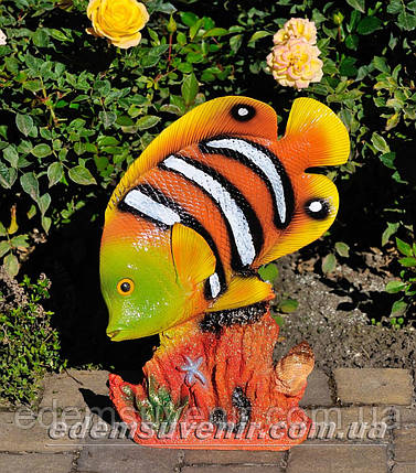 Садовая фигура Рыба бабочка на коралле, фото 2