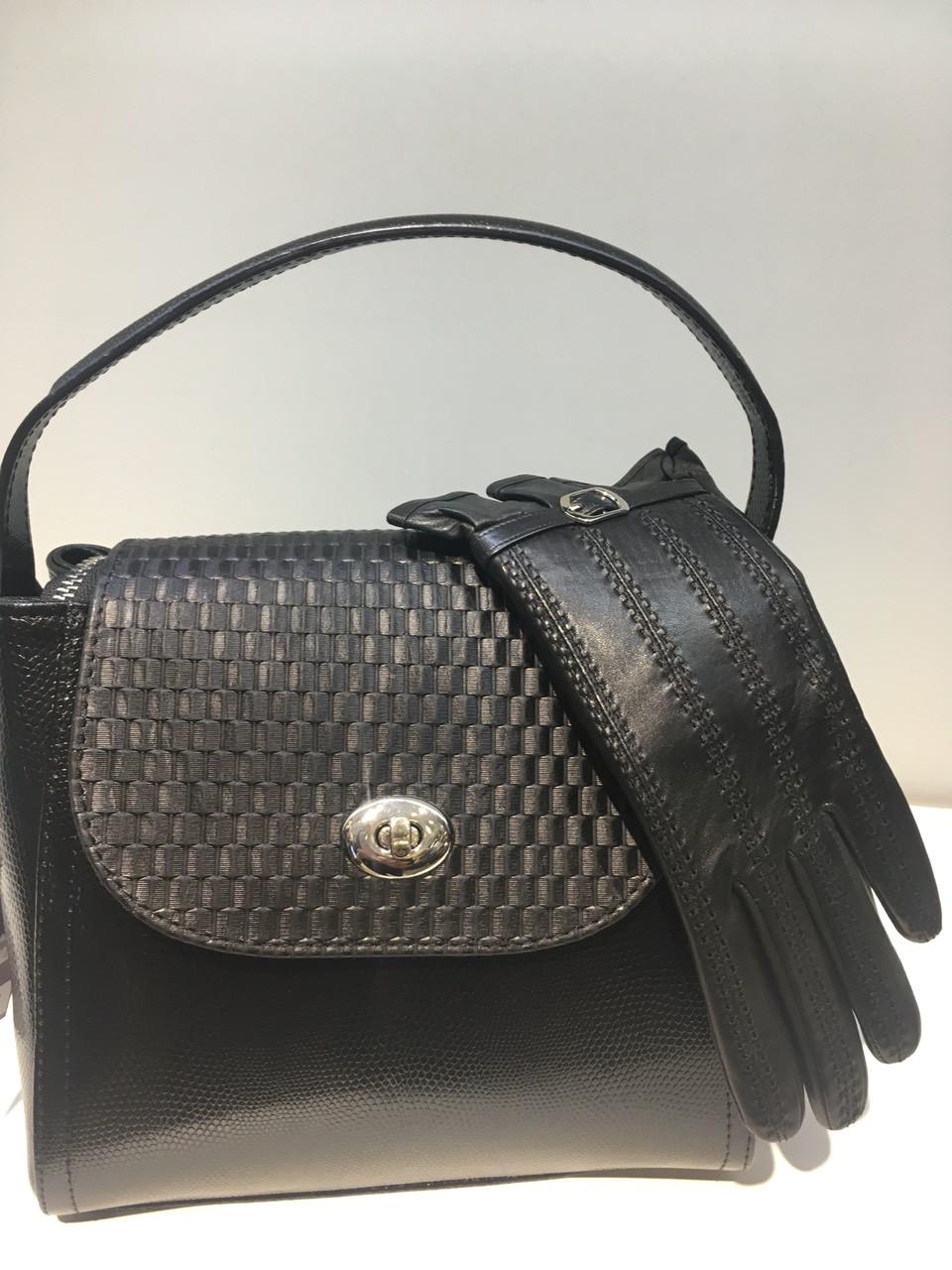 Модная женская сумочка из натуральной кожи 1119-0711 с тиснением рептилии