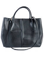 Кожаная сумка черная Lux 6759-11, фото 1