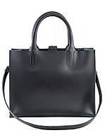 Кожаная сумка черная Sollo 6760-11, фото 1