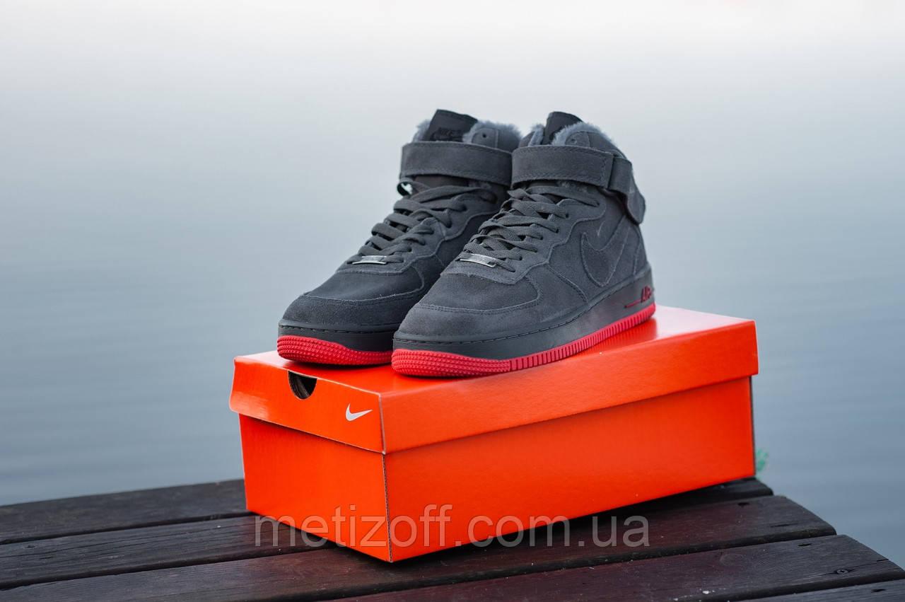 b8fcc9bb Мужские зимние кроссовки Nike Air Force серые (копия): продажа, цена ...