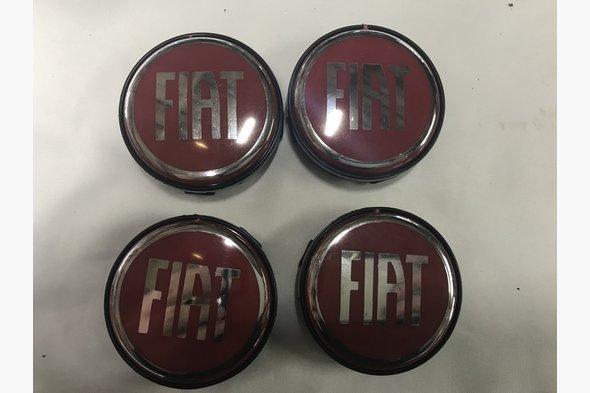 Колпачки в титановые диски 55 мм (4 шт) - Fiat Linea 2006+ и 2013+ гг.