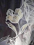 Тюль с принтованным рисунком Основа органза Высота 2.8 м., фото 2
