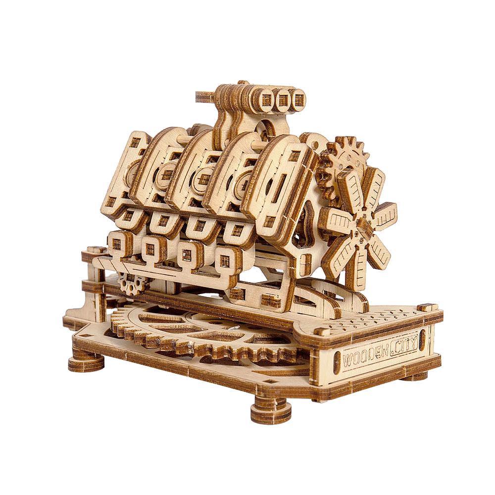 Механический 3D пазл Двигатель V8