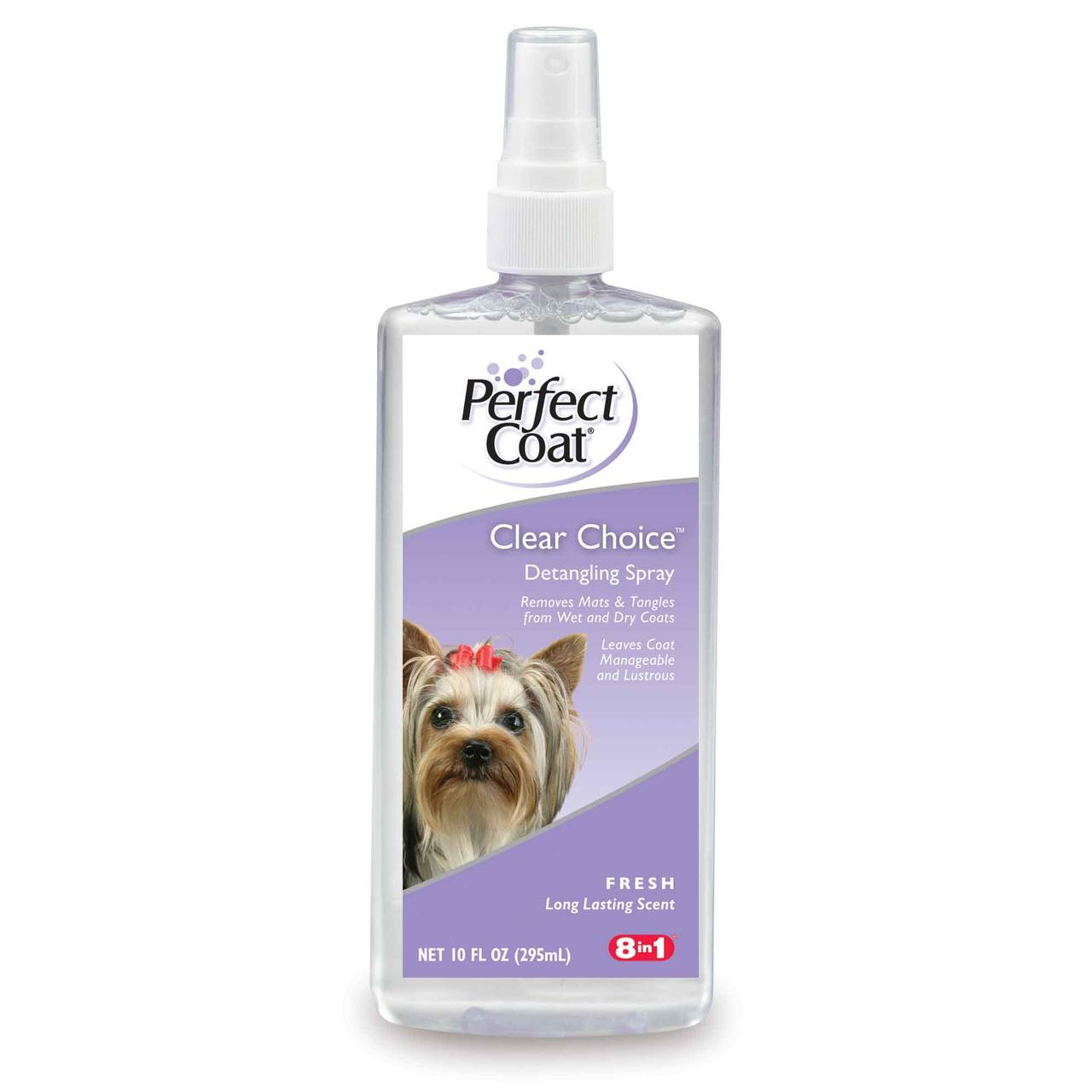 8in1 Clear Choice Detangling Grooming Spray 295 мл - спрей от колтунов и для облегчения расчесывания шерсти