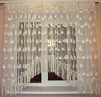 """Тюль на кухню арка 3 м с кружевом шампань """"Нежность"""", фото 1"""