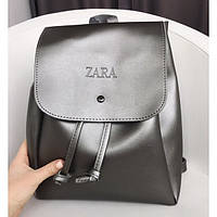 Женский городской рюкзак Zara (Зара), серый цвет , фото 1