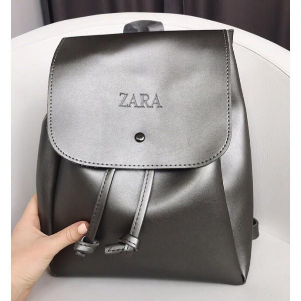 Женский городской рюкзак Zara (Зара), серый цвет