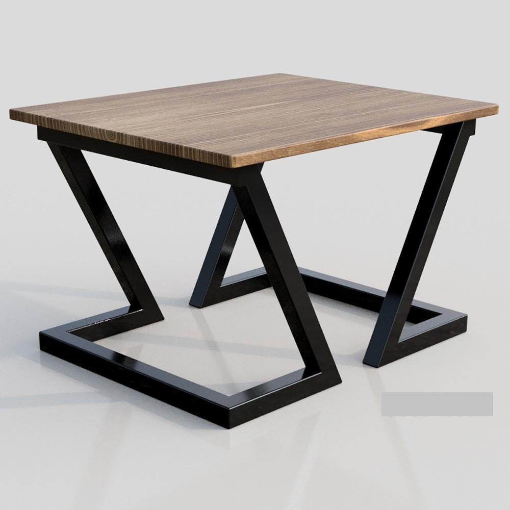 стол журнальный кофейный металлдерево в стиле Loft зетт металл