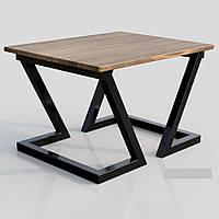 Стол журнальный, кофейный металл+дерево в стиле loft Зетт Металл-Дизайн