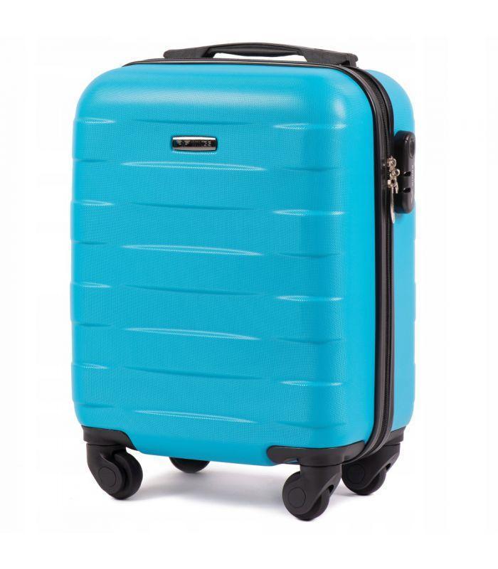 Дорожный чемодан на колесах WINGS ABS 401 Мини для ручной клади ударостойкий Разные цвета