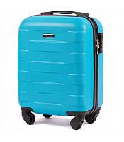 Дорожный чемодан на колесах WINGS ABS 401 Мини для ручной клади ударостойкий Разные цвета, фото 1