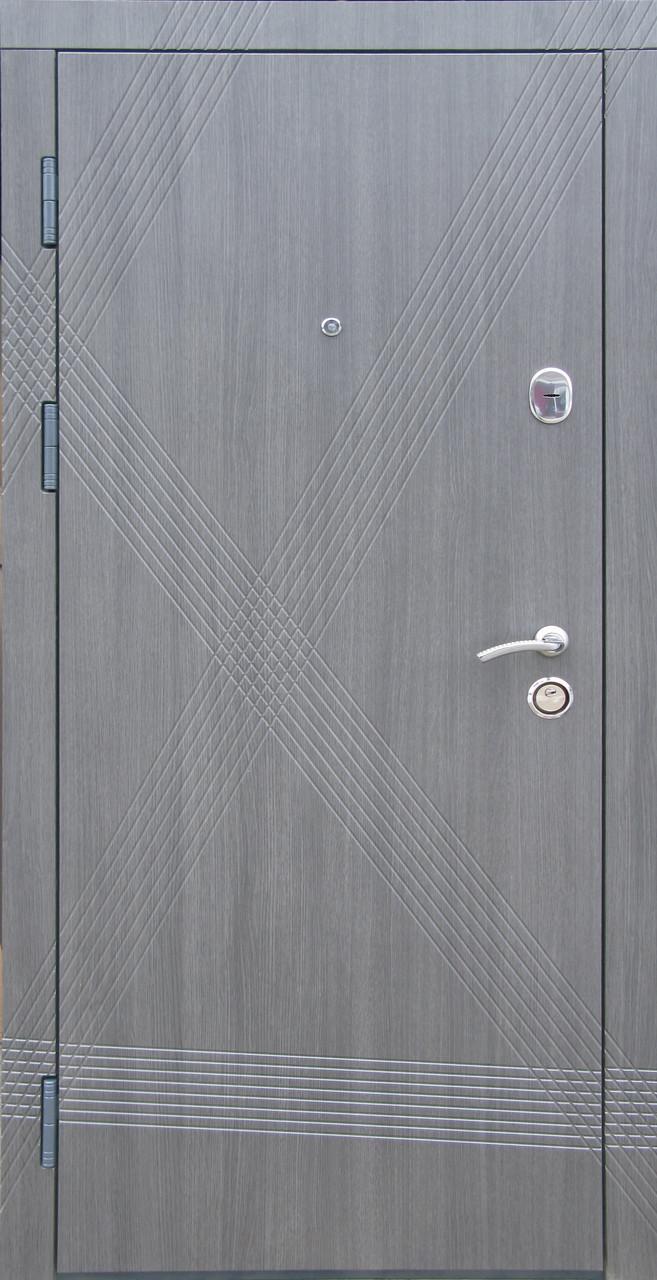 Входные двери Редфорт Диагональ венге серый