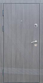 """Входные двери """"Редфорт (Redfort) Диагональ"""" венге серый, МДФ в квартиру"""