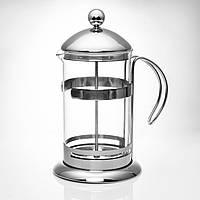 """Чайник заварочный френч-пресс 600 мл  в металлической оправе """"6061"""" ."""