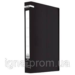 /Папка пласт. з 2-ма кільцями, А4 (25мм), JOBMAX, чорний