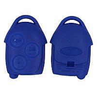 Корпус пульта Ford  3 кнопки (синий), фото 1