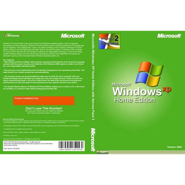 Microsoft Windows XP Home Edition SP3 Rus OEM (N09-02342)