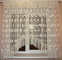 """Тюль на кухню арка 5 м с кружевом шампань """"Нежность"""", фото 1"""