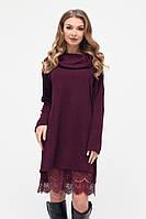 Платье женское теплое в 3х цветах KP-10205, фото 1
