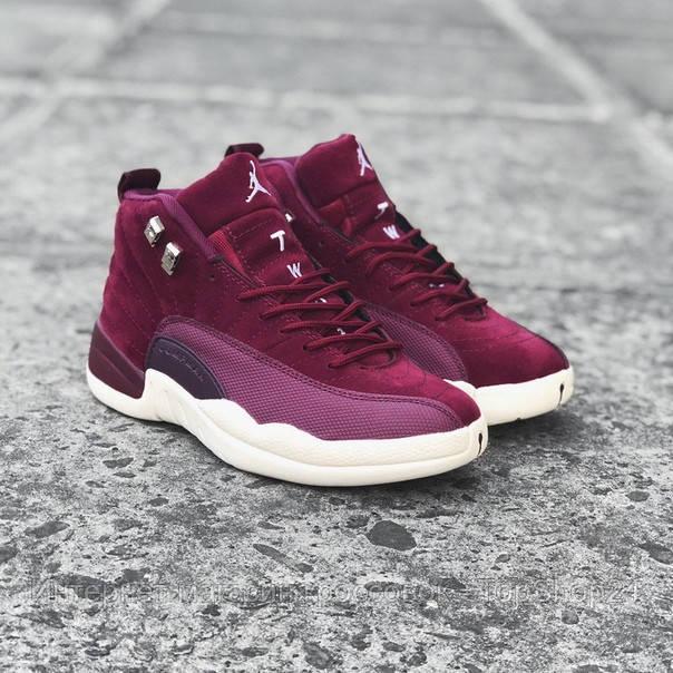 Кроссовки баскетбольные Jordan XII Bordeaux (реплика А+++ )