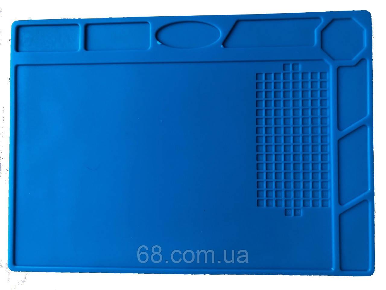 Силиконовый коврик 32х22 см для пайки мобильных телефонов Настольный Силіконовий килимок Мат Средний