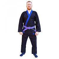 Кимоно для джиу-джитсу FirePower Evolution Black/Blue, фото 1