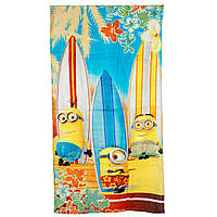 Махровое полотенце Миньоны (Minions) для мальчиков (р. 70х140 см) ТМ Disney (Sun City) Желтый QE4170-surfing