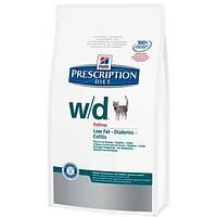 Hill's Feline W/D предотвращает ожирение, колиты, запоры, сахарный диабет - 1,5 кг