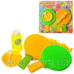 Мыльные пузыри 329 (48шт) игра, дудка, запаска 120мл,  ракетки 2шт, емкость, на листе, 28,5-28,5-3см