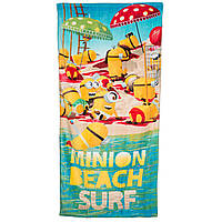 Махровое полотенце Миньоны (Minions) для мальчиков (р. 70х140 см) ТМ Disney (Sun City) Оранжевый QE4170-beach