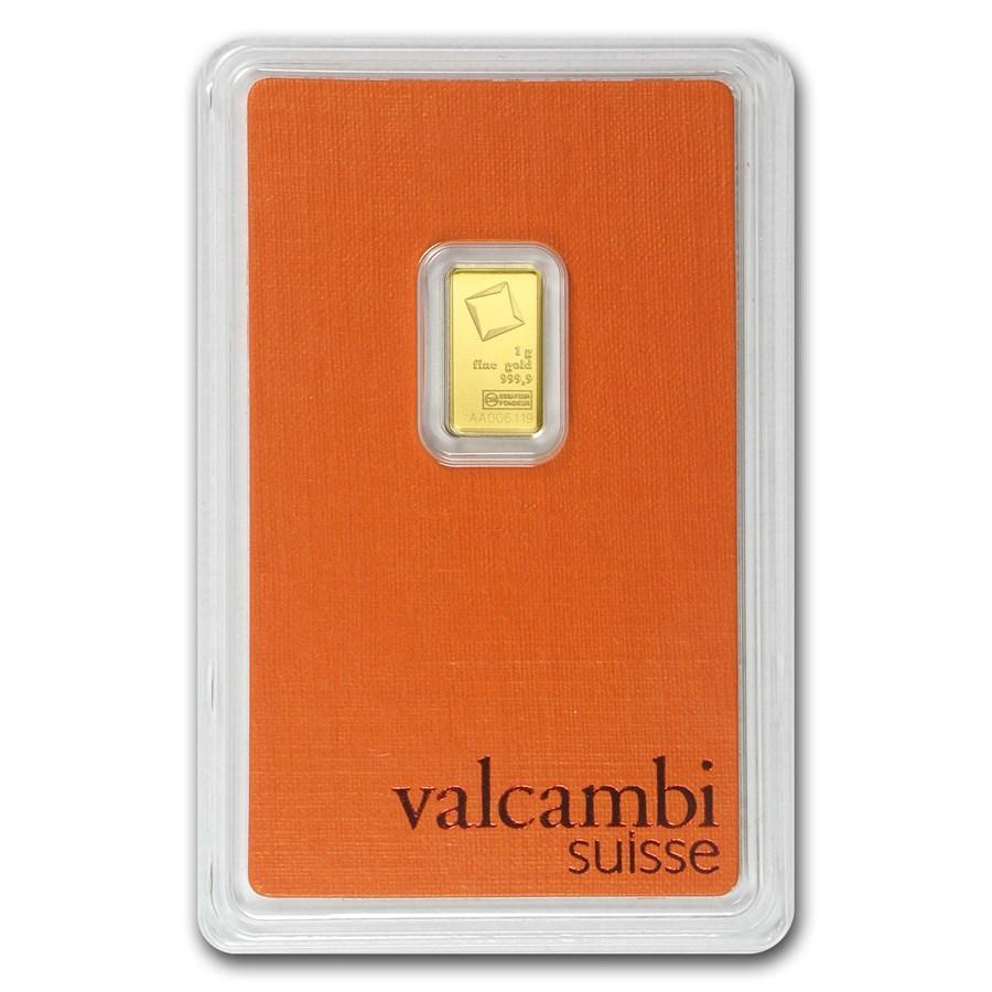 Слиток золота 1 грамм Valcambi (Credit Suisse)