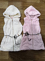 Безрукавки меховые для девочек оптом, Sincere, 6-14 лет., арт.R-109, фото 1