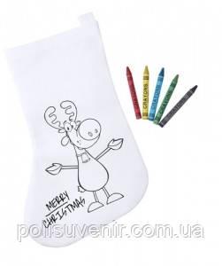 Новорічний носок-розмальовка