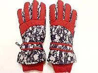 Перчатки горнолыжные женские   р.М (7) (черно/красные), фото 1