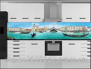 Стеклянный фартук для кухни - скинали Венеция