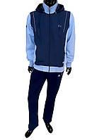Спортивный костюм SOCCER - черно-голубой 11297