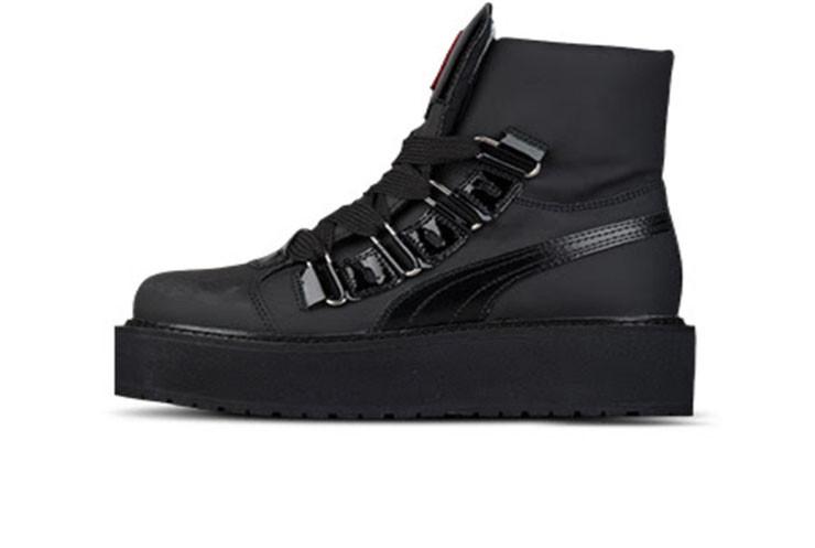 pretty nice 9dc90 37312 Женские кроссовки Puma Rihanna Fenty Boots Black (Реплика ААА+)