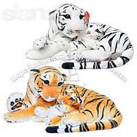 Мягкая игрушка Тигр с тигренком, 2 цвета, 46-21см, MP 0308