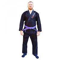 Кимоно для джиу-джитсу FirePower 3.0 Black/Blue, фото 1
