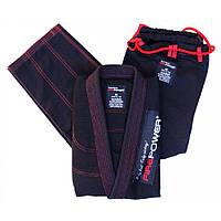 Кімоно для джиу-джитсу FirePower 3.0 Black/Red, фото 1