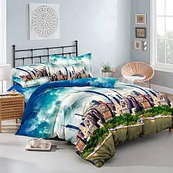 Семейный комплект постельного белья из ранфорса Мегаполис