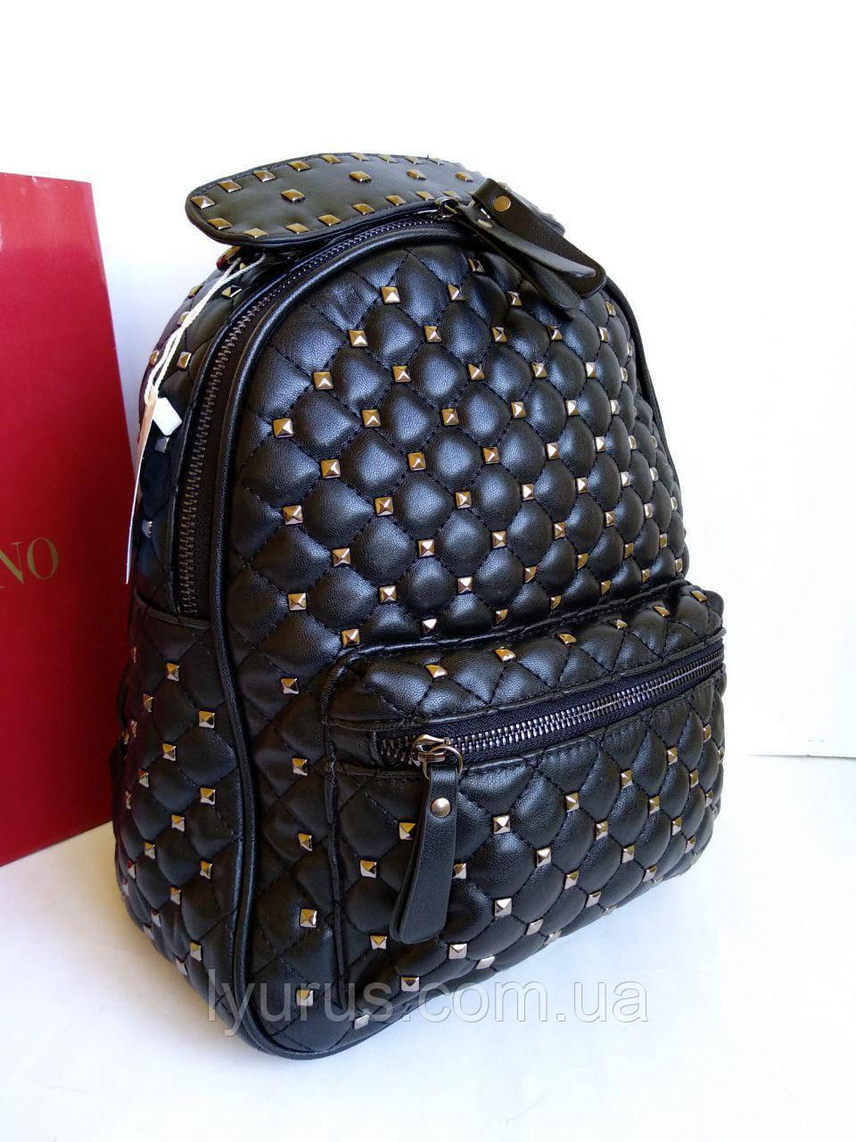 Женский рюкзак Valentino Garavani  повседневный черный