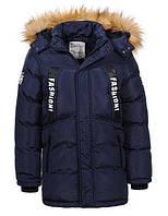 Теплая куртка с мехом пуховик для мальчика, рост 134 - 170, TM Glo-story BMA-6458, фото 1