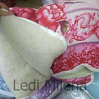 Тепле двосторонню вовняну ковдру двоспальне, фото 1