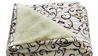 Зимовий двосторонню ковдру овчина двоспальне, фото 1
