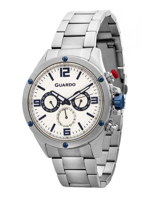 Чоловічі наручні годинники Guardo P11455(m) SW