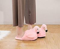 Плюшевые Тапочки Фламинго (без задника)
